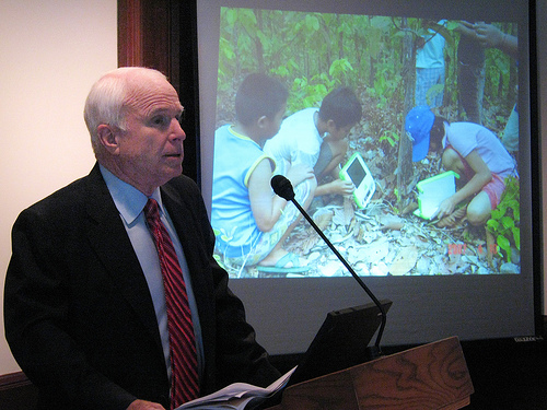 Senator McCain speaking about OLPC
