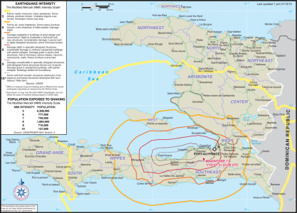 2010 Haiti quake intensity map