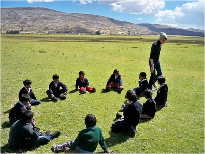 Learning outside in Peru