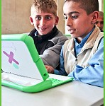 Afghani children at the first OLPC pilot