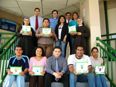 Teachers and assistants at the Universidad Evanglica de El Salvador