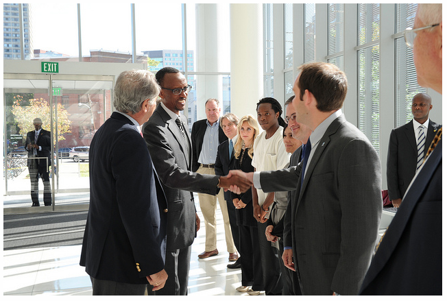 President Kagame meets OLPC team