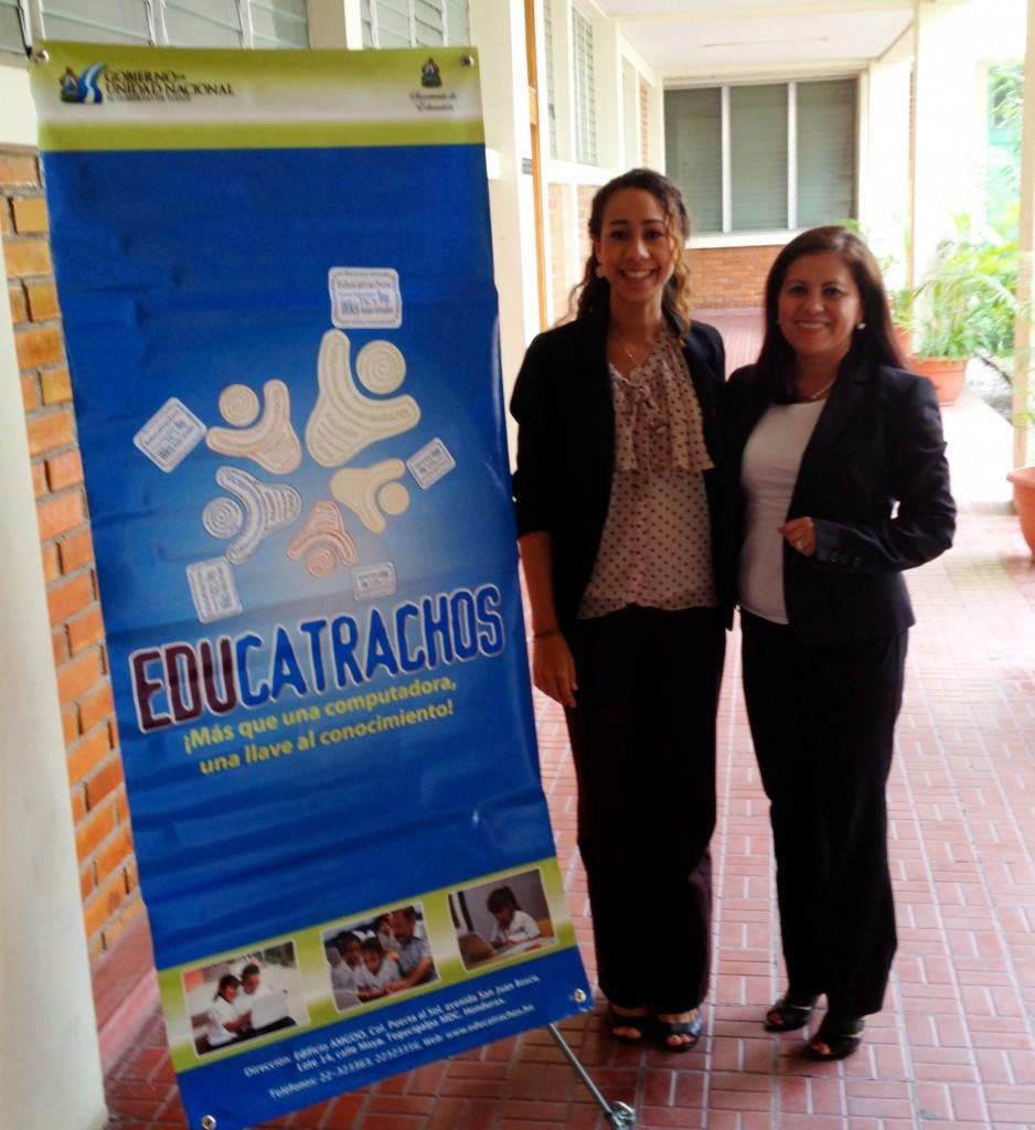 Melissa Henriquez (OLPC educational coordinator) and Patricia Rivera (Gerente Pedagógico Unidad Coordinadora de Programas y Proyectos UCP-BID)