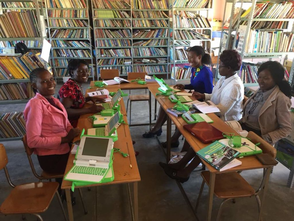 Teachers participate in training provided by OLPC.