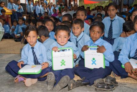 Happy faces at pilot school (OLE Nepal)